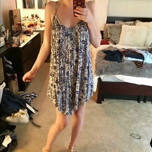 Floral Trapeze Style Summer Dress